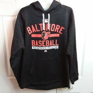 Majestic Baltimore Orioles Baseball Hoodie Sz M